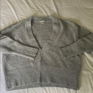 Women's Urban Outfitters deep v grey sweater